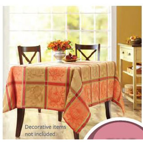Better Homes And Gardens Autumn Harvest Jacquard Plaid Tablecloth