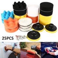 25PCS Sponge Polishing Waxing Buffing Pads Kit Set Compound for Auto Car for Polishing Machine, Polisher and Car