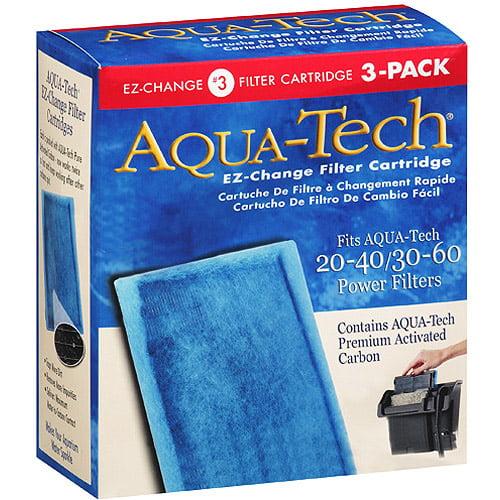 Aqua-Tech EZ-Change Aquarium Filter Cartridge for Power Filters, 3pk