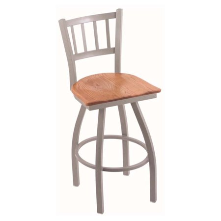 Holland Bar Stool Contessa 36 in. Extra Tall Swivel Bar Stool with Wood Seat ()