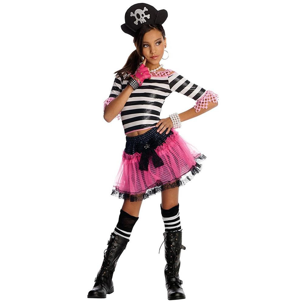 Sassy Pirate Treasure Girls size M 8 10 Drama Queens Costume Outfit Rubie's by Rubie's