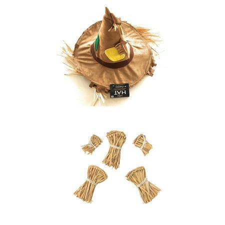 Nicky Bigs Novelties Patchwork Scarecrow Costume Kit, One Size (Nickys Halloween)