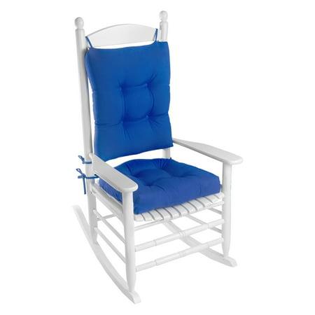 Enjoyable Klear Vu Easy Care 2 Piece Outdoor Rocking Chair Cushion Set Interior Design Ideas Pimpapslepicentreinfo