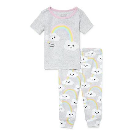 The Children's Place Short sleeve snug-fit pajamas, 2pc set (baby girls & toddler - Toddler Girls Pajama