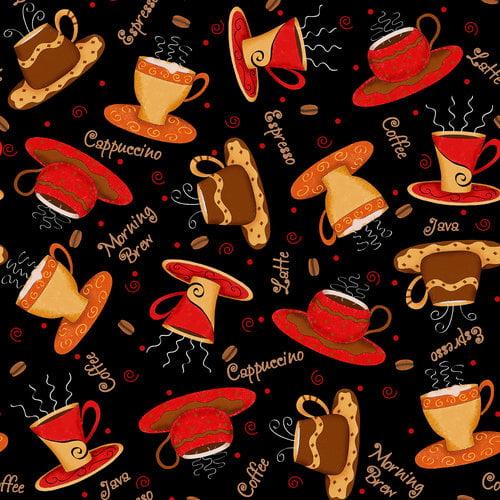Cranston VIP Fabrics Coffee Cups Fabric