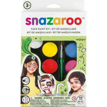 snazaroo Rainbow Color Set Face Paint Palette Kit 11pc 16ml Makeup Kit