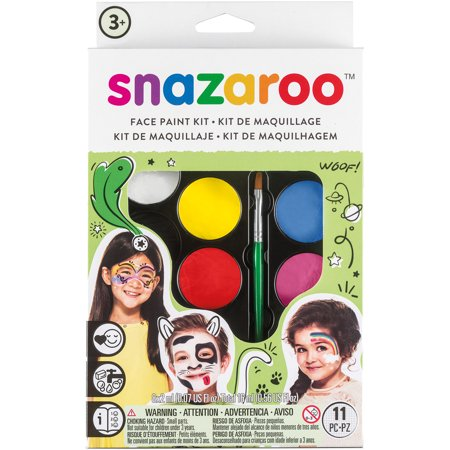 snazaroo Rainbow Color Set Face Paint Palette Kit 11pc 16ml Makeup Kit](Werewolf Face Painting Halloween)