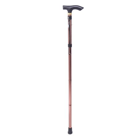 Folding Walking Stick,Handle Folding Cane Portable Anti-Shock Telescopic Walking Hiking Climbing Stick (Silver Handle Walking Cane)