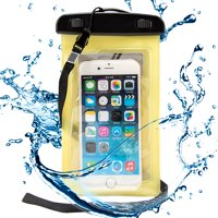 """Waterproof Case Smartphone Dry Pouch (Orange) w/ Neck Lanyard - Compatible w/ iPhone XR/XS/X/8 Galaxy S10/S9/S8 Pixel 3 OnePlus Huawei LG Sony, Phones up to 6"""" Great for Swim Pool Beach Bath Travel"""