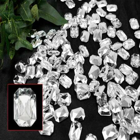 Efavormart DIVA LIFESTYLE Endless Diamond Rhinestones 470/pk Emerald-Cut Clear