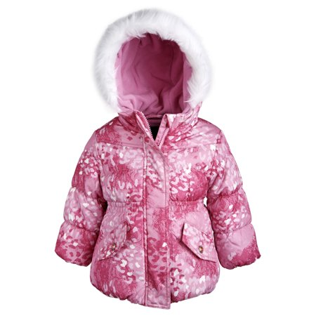 953e2ca89f45 Rothschild Baby Girls Down Alternative Bubble Snowsuit Ski Bib and ...