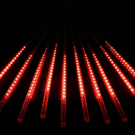 Red Dot Lcd - Perfect Holiday LED Meteor Shower Snowfall Lights 50cm - Red