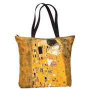 Women's Fine Art Zippered Shoulder Tote Bags