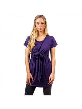 68626be5465 Product Image Funcee Womens Maternity Nursing Short Sleeve Round Neck Blouse  T Shirt with Self Tie