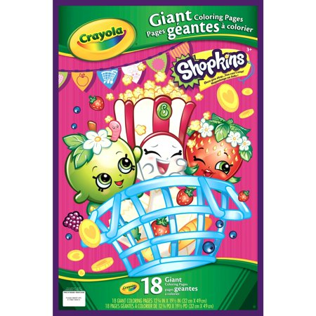 Crayola shopkins giant coloring pages 18 sheets for ages Coloring book walmart