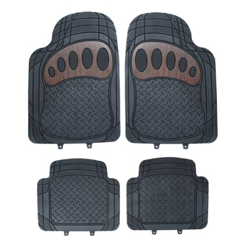 FH Group Black Rubber Liners Full Set Auto Floor Mats