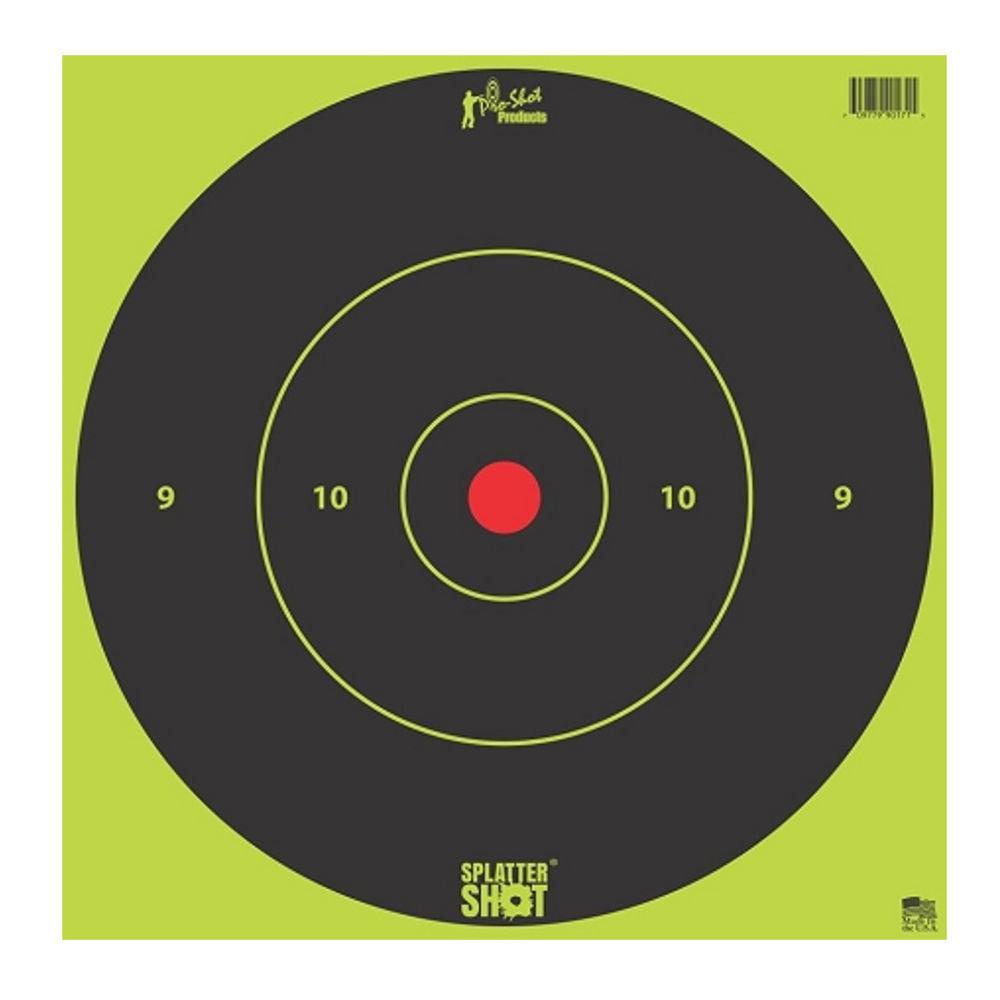 """Pro-Shot Splatter Shot 12"""" Green Bull's-Eye Target - 5 Pack"""