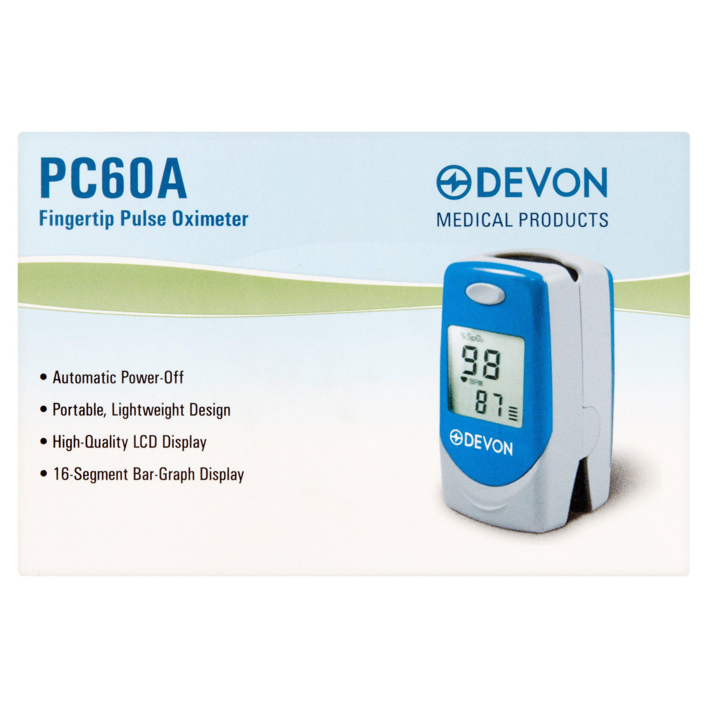 Devon PC60A Fingertip Pulse Oximeter