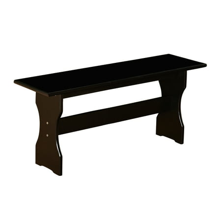 TMS Nook Dining Bench, Black - Kitchen Dining Nook Bench