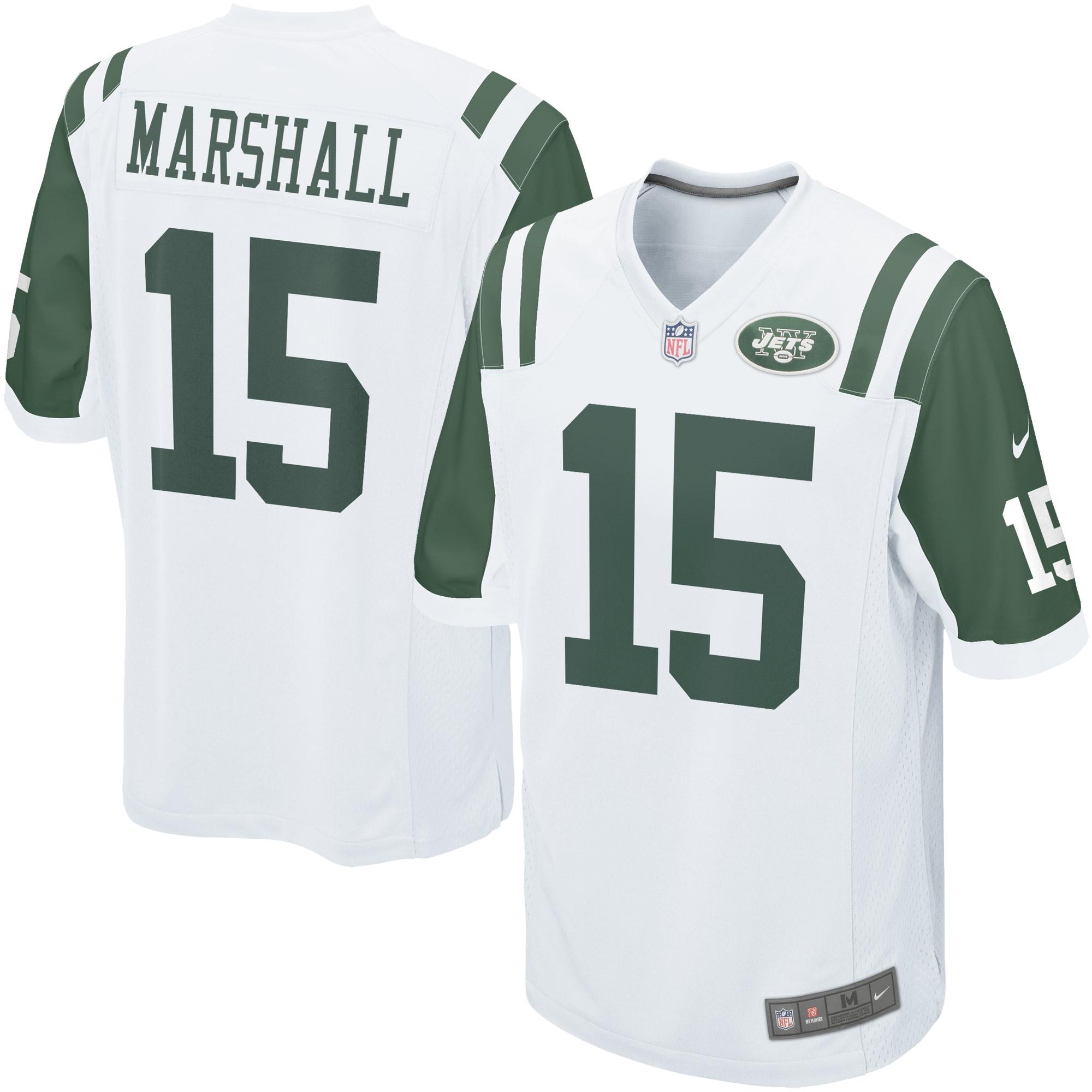6f0c690b Brandon Marshall New York Jets Nike Game Jersey - White - Walmart.com