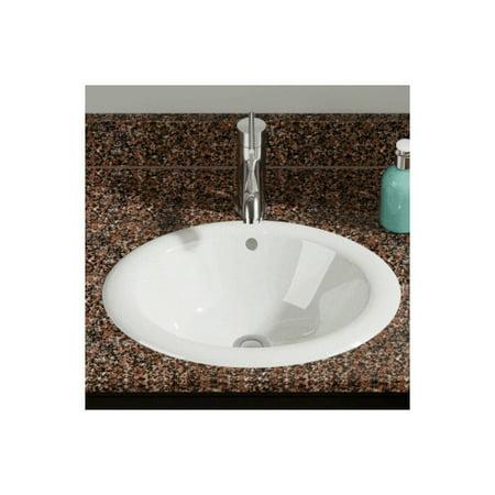 Polaris Sinks Overmount Porcelain Oval Vessel Bathroom Sink Walmart
