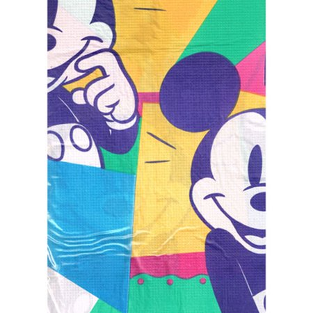 Mickey Mouse Vintage 'Hip Mickey' Plastic Backed Paper Table Cover (1ct) (Mickey Mouse Table Cloth)