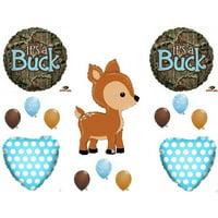 Oh Deer It's A Buck Camo Baby Boy Shower Balloons Decoration Supplies