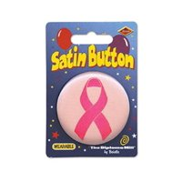 "Pack of 6 Breast Cancer Awareness Themed ""Pink Ribbon"" Satin Button Costume Accessories 2"""