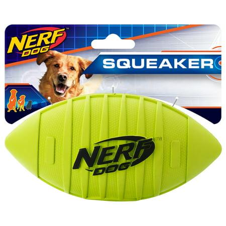 Nerf Dog 7in Blitz Squeak Football - Green, Dog Toy
