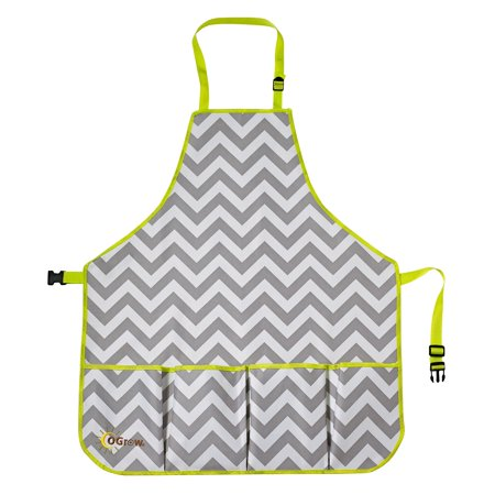 Image of Ogrow High Quality Gardeners Tool Apron With Adjustable Neck And Waist Belts