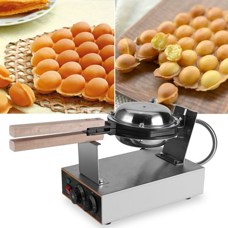 VBESTLIFE Stainless Steel Electric Egg Cake Oven Puff Bread Maker Bake Machine 110V US Plug, Egg Cake Maker,Egg (Ekg Machine)
