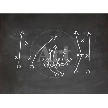 Football Play Strategy Drawn Out On A Chalk Board Children's Print Wall Art By Phase4Photography