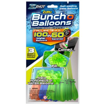 Bunch O Balloons 100 Rapid-Filling Self-Sealing Water Balloons (3 Pack) by ZURU ()