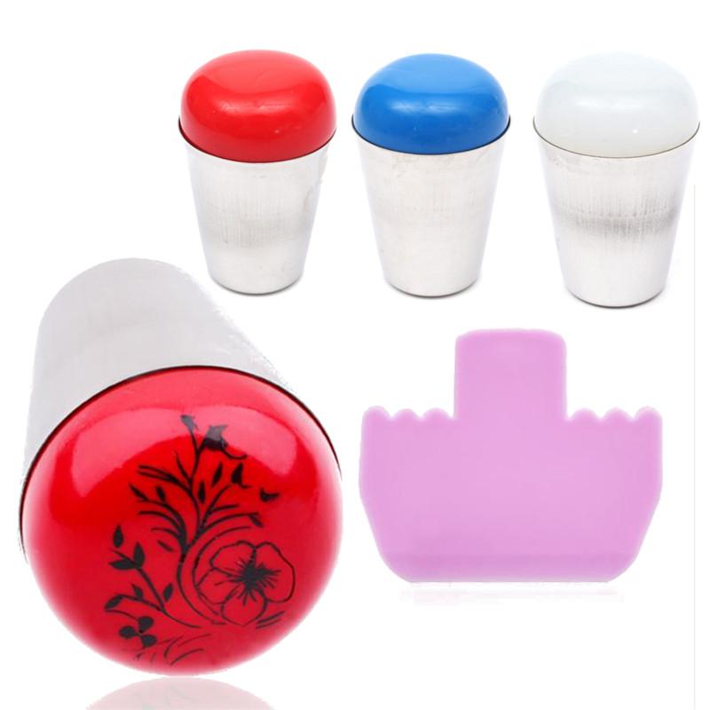 DANCINGNAL Nail Art Jumbo Stamper Marshmallow Round Silicone Stamp Stamping Tool 1Pcs