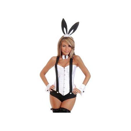 Daisy Corsets Sexy 6 Pc Tuxedo Bunny Daisy-1557 White/Black,White/Pink - Bunny Tuxedo