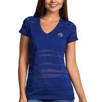 Orlando Magic Antigua Women's Juke Burnout V-Neck T-Shirt - Royal Blue