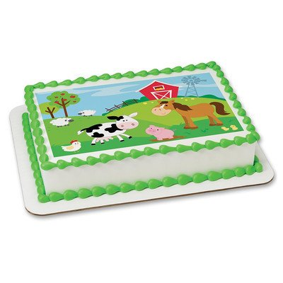 Farm Animals Edible Frosting Sheet Cake Topper - Licensed - 1/4 Sheet ()