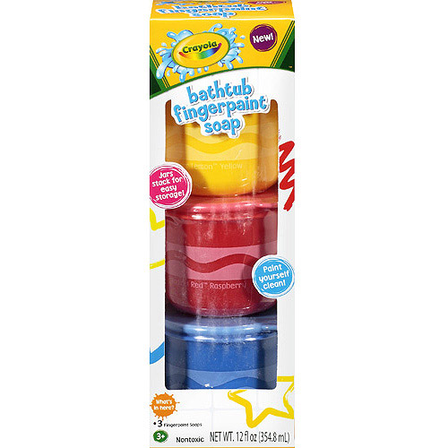 Crayola Bathtub Fingerpaints Soaps, 3 count, 12 fl oz