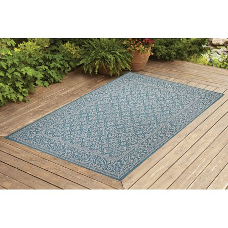 Benissimo Indoor / Outdoor Sisal Area Rug Rug Sensation Collection Non-Skid, Woven, Durable, and Easy Cleaning | Machine Rug for Living Room, Kitchen, Garage, Kids room etc. | 4x6 | Turquoise ()