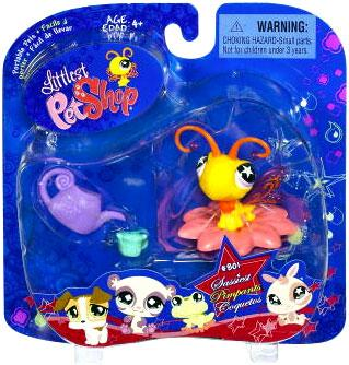 Butterfly Figure Flower Perch & Watering Can Littlest Pet Shop