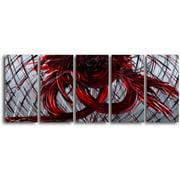My Art Outlet 'Eternal Heart' 5 Piece Graphic Art Plaque Set