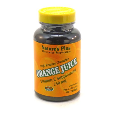 Orange Juice Vitamin C 250mg By Nature's Plus - 90 Tablets