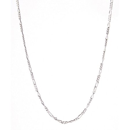 PORI Jewelers Italian Sterling Silver Figaro Chain Necklace, 30""