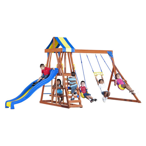Backyard Discovery Yukon III All Cedar Wood Swing Set