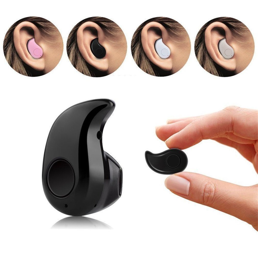 Mini B luetooth Earphone W ireless Music Sports Stereo In-Ear Headset Earpiece Earbuds Universal For iPhone Android Phones Black