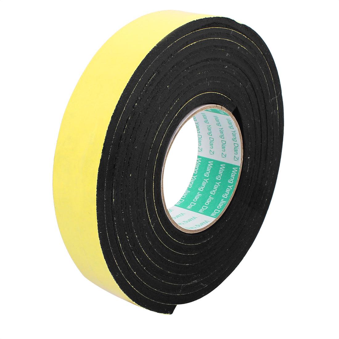 35mm Width Single Side Self Adhesive Shockproof Sponge Foam Tape 2 Meters Length
