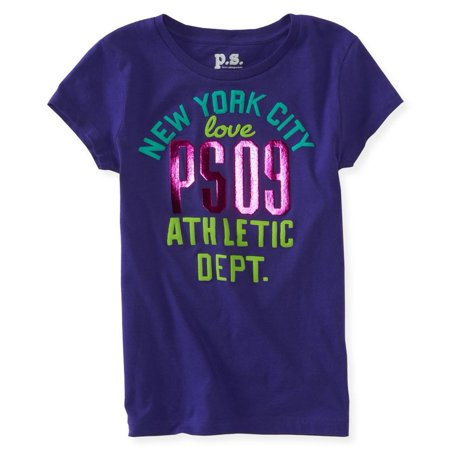 6d71ac31b p.s.09 from aeropostale - Aeropostale Girls New York City Love Graphic T- Shirt - Walmart.com