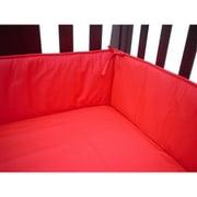 TL Care Cotton Percale Crib Bumper, Red