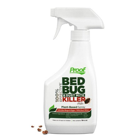 Proof 100% Effective Bed Bug and Dust Mite Killer Spray (Bed Bug Killer Dust)