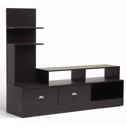 Wholesale Interiors Armstrong Dark Brown Modern TV Stand for TVs up to 60""